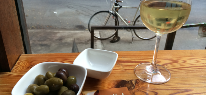 Wine and Olives at Casellula